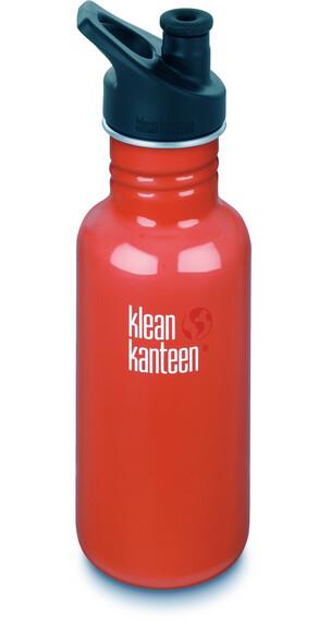 Klean Kanteen Classic 18oz Sport Cap (532 ml) flame orange